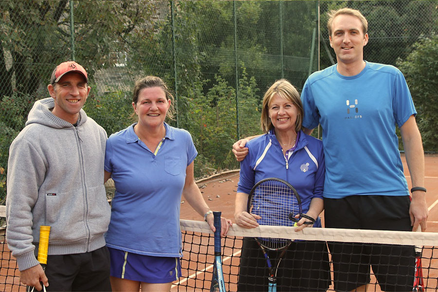 Drummond annual tournament 2014, Finals Day: in the mixed doubles, Dom and Fiona take on Debbie and Jamie